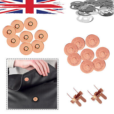 Magnetic Button Snap Fasteners Clasp Closure For DIY Leathercrafts Bags 14/18mm • 2.59£