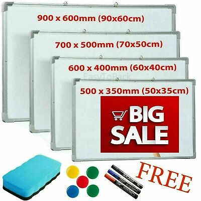 Magnetic Whiteboard Dry Wipe Drawing Board Small Medium Large Office School Home • 13.85£