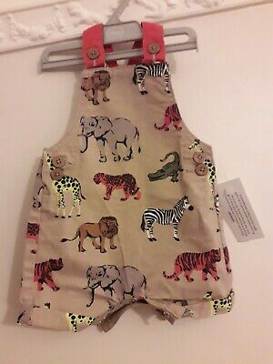 Baby Boy Dungarees Romper 0-3 Months Zoo Animal Print BNWT  • 2.50£