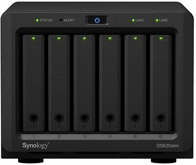 Synology - Nas Dt Ds620slim 6bay 2.5in 2.0ghz Dc 2x Gbe 2x Usb 3.0 2gb Ddr3l In • 594.87£