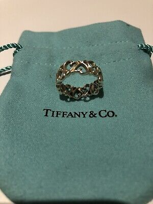Tiffany Paloma Picasso® Loving Heart Band Ring Sterling Silver US 6 In Box • 35.67£