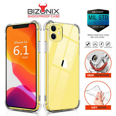 AU6.99 • Buy IPhone 12 11 Pro Max Case 6 7 8 Plus X XS XR Shockproof Clear Cover Back Bumper