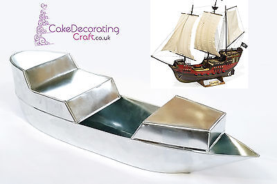 3D Novelty Cake Baking Tins And Pans | Pirate Ship Cake Shape  • 13.99£