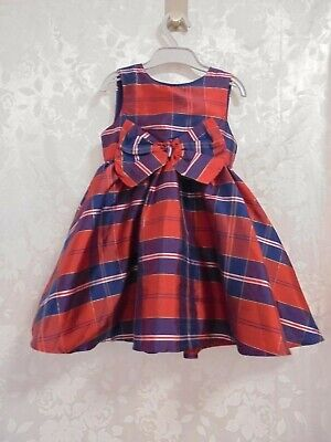 Mothercare Stunning Girls Red Checked Dress Size 3-4 Years • 2£