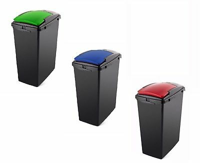 40 L Slim Line Recycling Bin 40 Liter Heavy Duty Plastic Lift Top Sealed Lid New • 15.27£