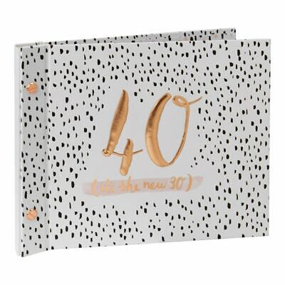 £15.99 • Buy 40th Birthday Celebration Party Guest Book And Photo Album