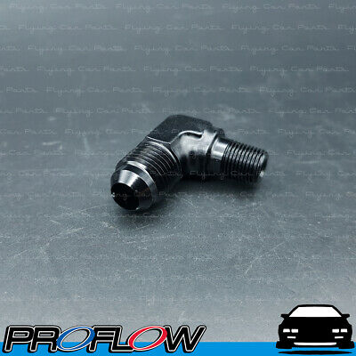 AU11.18 • Buy Male Fitting AN -6 (AN6) To 1/8  NPT 90 Degree Black