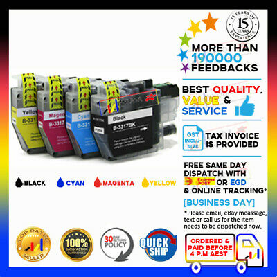 AU19.45 • Buy 4 X NoN-OEM Ink LC-3317 LC3317 For Brother MFC-J6930DW MFC-J6730DW MFC-J6530DW