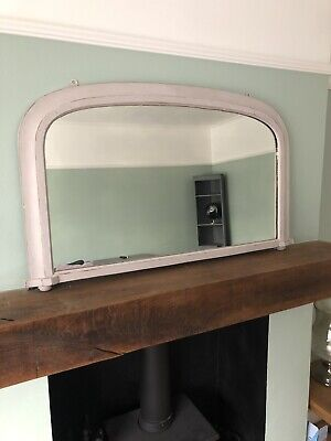 Shabby Chic Overmantle Upcycled Mirror Painted In Paloma Annie Sloan Chalk Paint • 0.99£