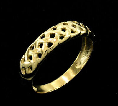 AU246.01 • Buy R007 Genuine 9ct Gold LATTICE Designed Wedding Band Friendship Ring In Your Size