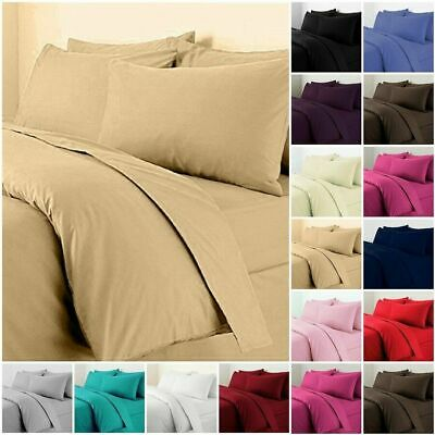 £11.90 • Buy Plain Duvet Quilt Cover With Pillow Case Bedding Set Single Double King All Size