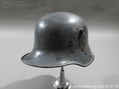 German WW 1 Steel Helmet With Mecklenburg Badge • 175£
