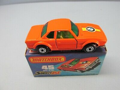 $2.99 • Buy MATCHBOX Superfast 45B BMW 3.0 CSL Orange / DARK GREEN Windows