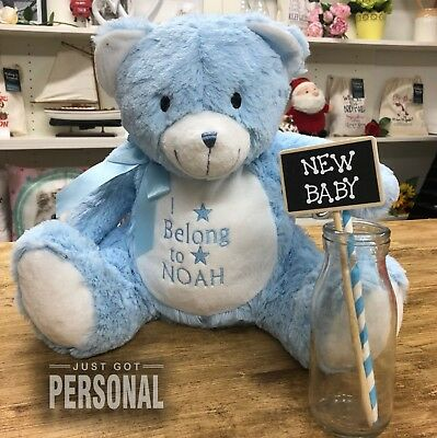 £19.99 • Buy Personalised New Baby Teddy Bear - I Belong To - Cuddly Soft Toy - Baby Boy Baby