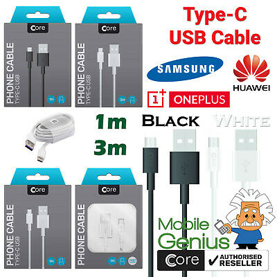 $ CDN2.71 • Buy For Samsung Galaxy S8, S9, S10 Type C USB Sync Charger Charging Cable 1m 3m
