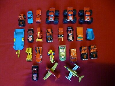 20 Vintage Matchbox Toy Cars 1 Hovercraft 1 Trailer Two Planes In Good Condition • 10£