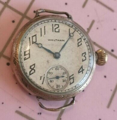 $ CDN50 • Buy Vintage Waltham Trench Watch Gold Filled Ww1 Not Working Repair Sub Second 1926