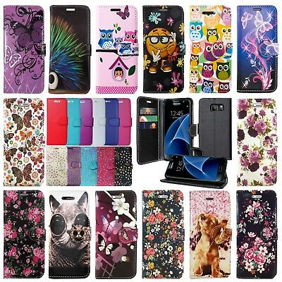 **for Samsung Galaxy S7 Edge & S8 Plus Leather Wallet Book Flip Case Phone Cover • 3.96£