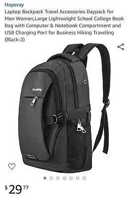 AU32.20 • Buy Laptop Backpack Travel Accessories Daypack For Men Women,Large Lightweight...