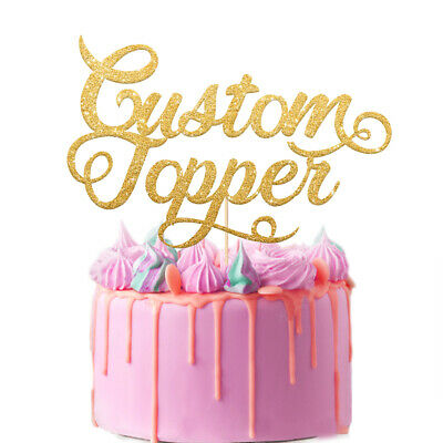 £2.99 • Buy Personalised  Cake Topper Custom With Any Text Party Wedding Birthday Decoration