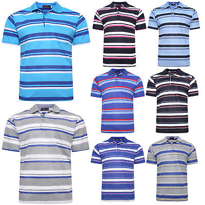 £5.99 • Buy New Mens Polo Shirt Collar Striped Short Sleeve Casual Work T Shirts Lounge Top