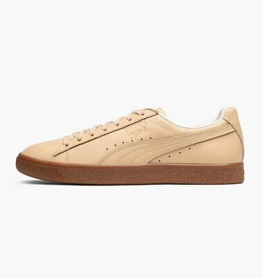 Mens Puma Clyde VEG Tan X Naturel Vachetta Trainers (LF1) RRP £85.99 • 51.99£