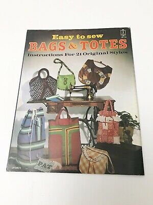Vintage 1977 Easy To Sew Bags And Totes Patten Book With Uncut Patterns • 5£