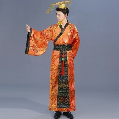 £26.46 • Buy Mens Ancient Hanfu Costume Chinese Tang Emperor Performance Outfit Cosplay Retro