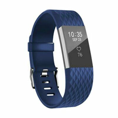 AU3.99 • Buy Large Replacement For Fitbit Charge2 Wristband Silicone Watch Wrist Band Strap