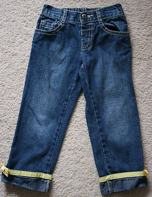 $11.99 • Buy Gymboree Bee Chic Size 3 Jeans Blue Denim Yellow Bow Ribbon Girls 3t Euc