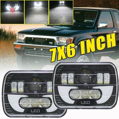 $59.75 • Buy Pair 7x6  240w H6054 Hi-lo Beam Led Headlights Drl For Chevy Toyota Pickup Truck