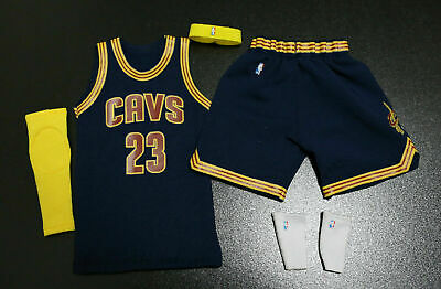 $32.99 • Buy Custom 1/6 Lebron James Cavs Jersey 23 Cavaliers NBA  Road Navy Fit Enterbay