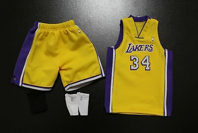$34.99 • Buy Custom 1/6 Shaquille O'Neal Lakers Jersey 34  TOYs Home Yellow Fit Enterbay