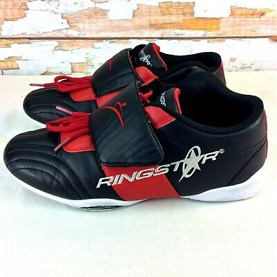$18.99 • Buy RINGSTAR FightPro MMA Sparring Shoes Mens Size 8 M Black & Red UltraLite Indoor