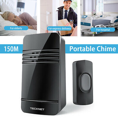 TeckNet Wireless Doorbell Battery-operated Portable Cordless Door Chime Kit 150M • 12.99£