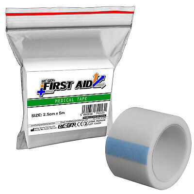 RE-GEN First Aid 2.5cm X 5m MicroPore Surgical Bandage Support Strapping Tape • 2.19£