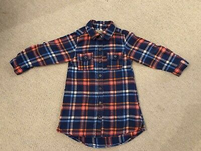 Girls Next Check Blue And Red Dress Age 2-3 Years • 3£