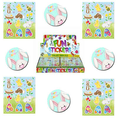 12*Easter Stickers  Childrens Party Bag  Fillers Fun Stickers Toys • 3.49£