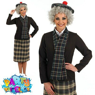 Adult Supergran Old Lady Costume 80s Granny Hen Party Ladies Fancy Dress Outfit  • 25.99£