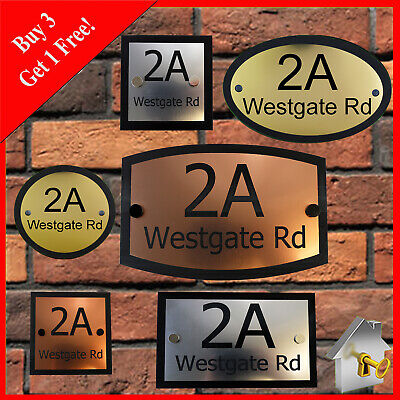 Modern House Sign Customised Plaque Door Number Street Name Various Styles Sizes • 6.95£