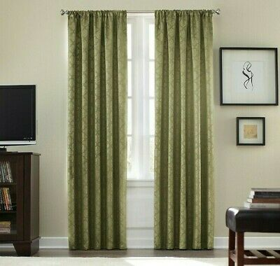 $17.05 • Buy Colordrift Athena Rod Pocket Room Darkening 95-Inch Window Curtain Panel In Sage
