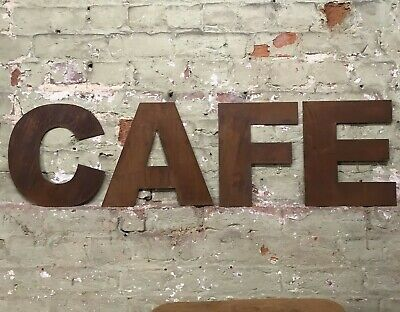 £47.99 • Buy Rusty Cafe Lettering Letters Signage Metal 12  Coffee Shop Sign Restaurant Decor