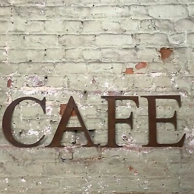 £47.99 • Buy Rusty Cafe Lettering Letters Signage Metal 12  Sign Rustic Industrial Bar Food