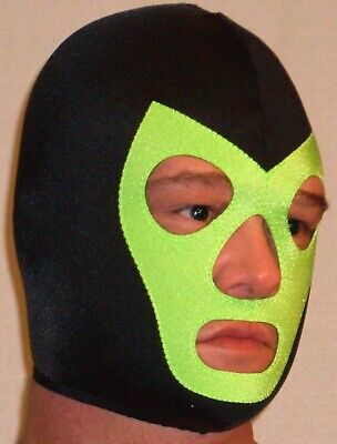 $53.99 • Buy New Black Lime Spandex Pro Wrestling Gear Mask Costume