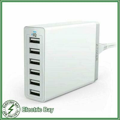 AU74.95 • Buy Anker PowerPort 6 USB Port Hub Wall Charger Fast Charge 60W White Samsung Apple