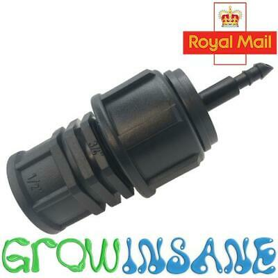4mm To 1/2  BSP Tap Connector Water Micro Pipe Garden Irrigation Fits Hozelock • 4.99£