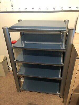 Soundstyle Silver 5 Shelf AV Unit Rack Stand Good Condition.  • 50£