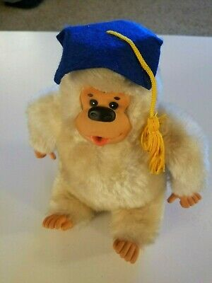 $ CDN14.45 • Buy Vintage 9  Thumb Suck Monkey Ape Gorilla Plush Graduation Cap Russ Gonga