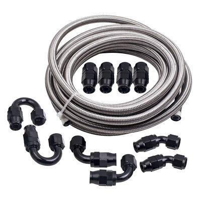 AU125.80 • Buy AN-10 Stainless Steel PTFE  Fuel Line Hose 6M 20FT & AN10 Swivel Fitting Kit