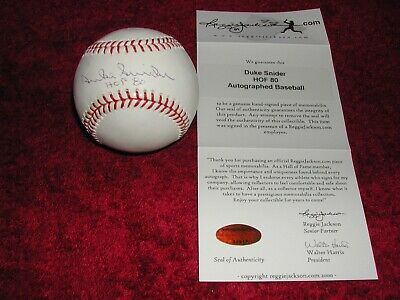 $ CDN105.79 • Buy Duke Snider Signed ( With Inscription) Major League Baseball COA Reggie Jackson